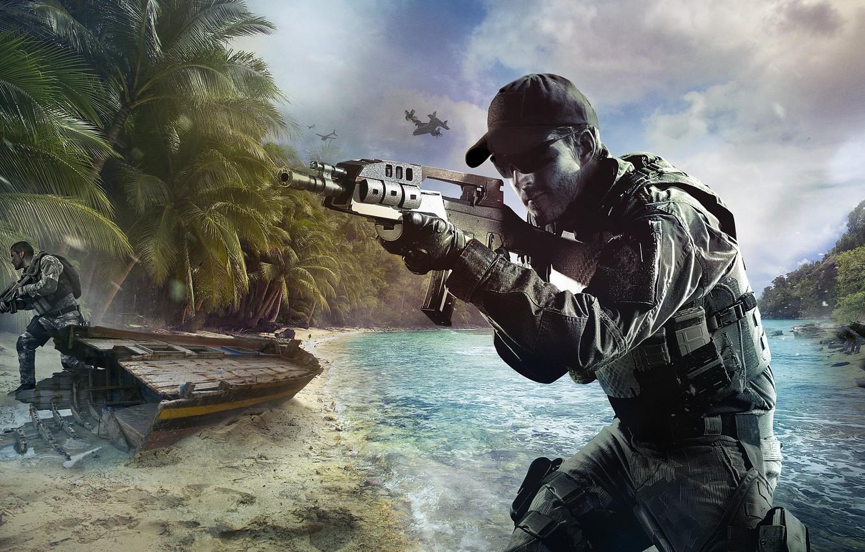 Wallpaper Beach War Boat Island Soldiers Call Of Duty Black
