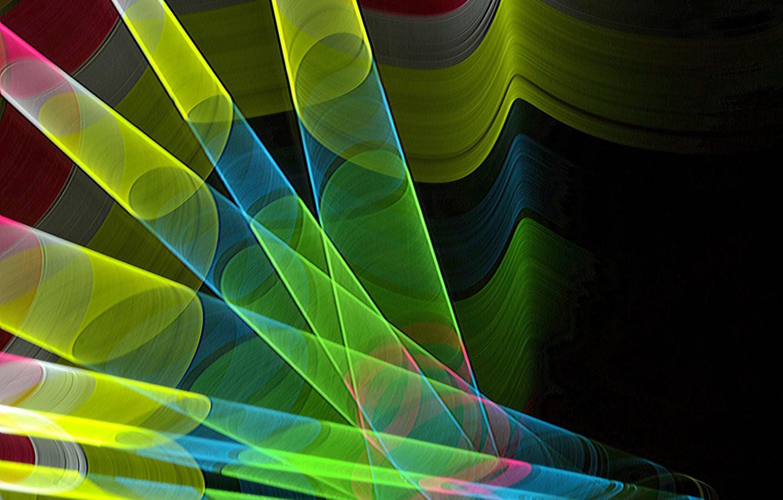 Photo wallpaper light, line, color, tube, the volume