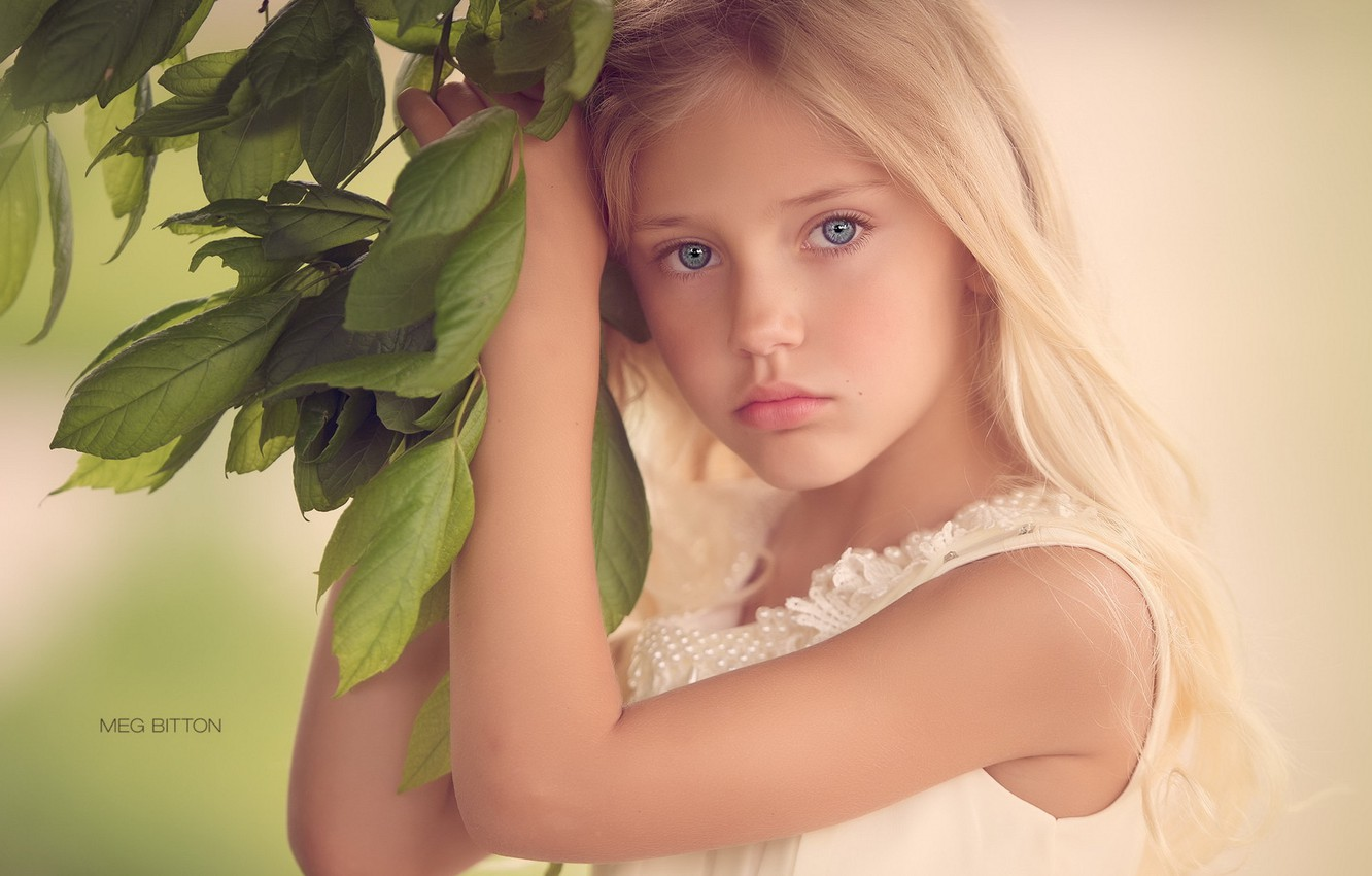 Photo wallpaper look, portrait, girl