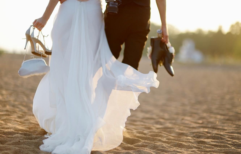 Photo wallpaper woman, male, wedding, the groom