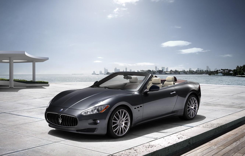 Photo wallpaper sea, Maserati, Italy, convertible, top, back, main, Maserati, main_front
