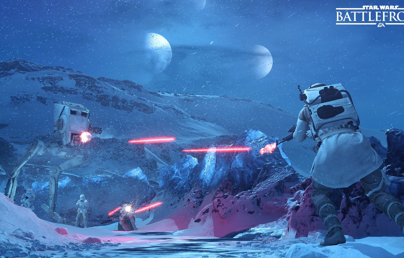 Wallpaper Game Shooting Electronic Arts Stormtroopers Dice The Rebels Stormtroopers Hot Rebels At St Star Wars Battlefront Hoth Images For Desktop Section Igry Download