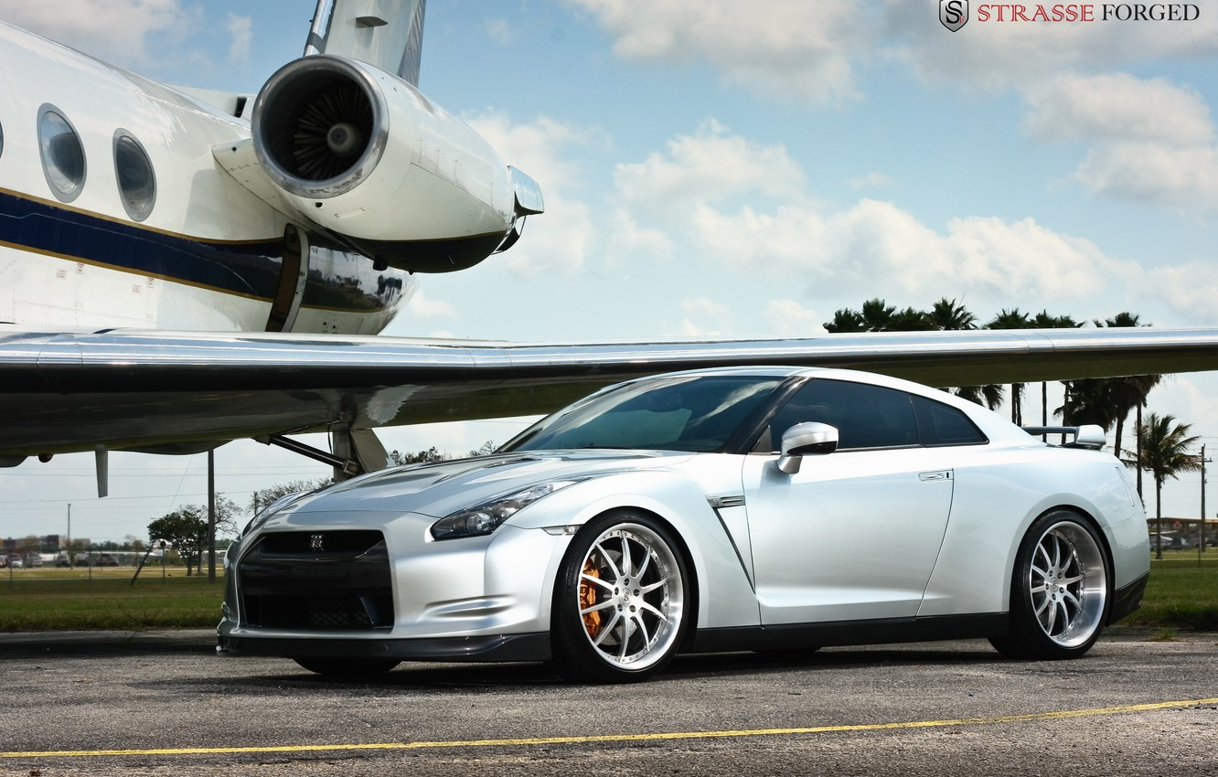 Photo wallpaper nissan, gtr, Forged, Strasse