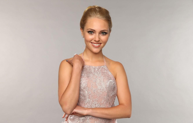 Photo wallpaper girl, smile, model, dress, actress, blonde, AnnaSophia Robb, Anna Sophia Robb