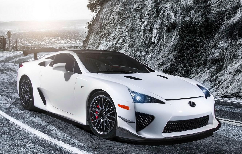 Photo wallpaper White, Tuning, Lexus, Car, Car, White, Wallpapers, Tuning, Performance, Wallpaper, Lexus LFA, The LFA belongs, …