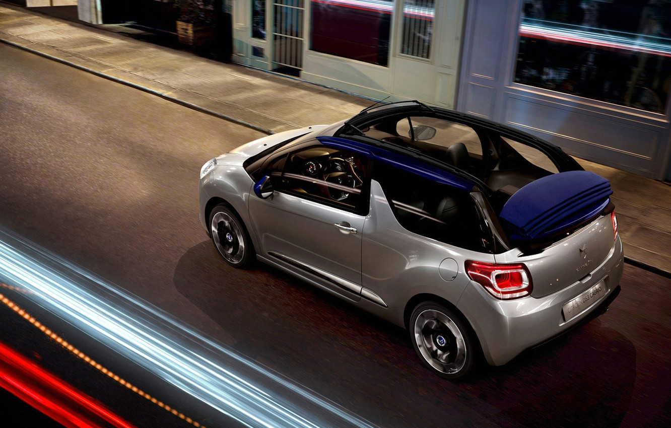 Photo wallpaper citroen, cabrio, ds3