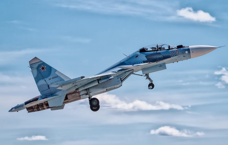 Photo wallpaper Russia, Moscow, Sukhoi Su-30SM, Kubinka