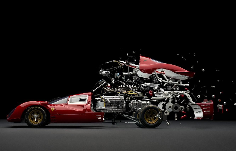 Photo wallpaper Ferrari 330 P4, Fabian Ofner, Disintegrating