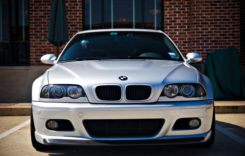 Photo wallpaper BMW, BMW, before, silver, silver, E46