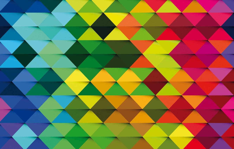 Photo wallpaper vector, colors, colorful, abstract, background, creative, trigon