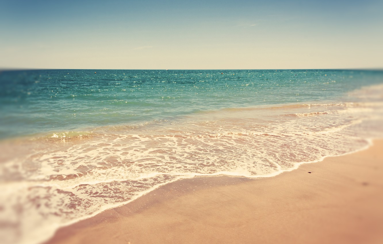 Photo wallpaper sand, sea, beach, summer, landscape, nature