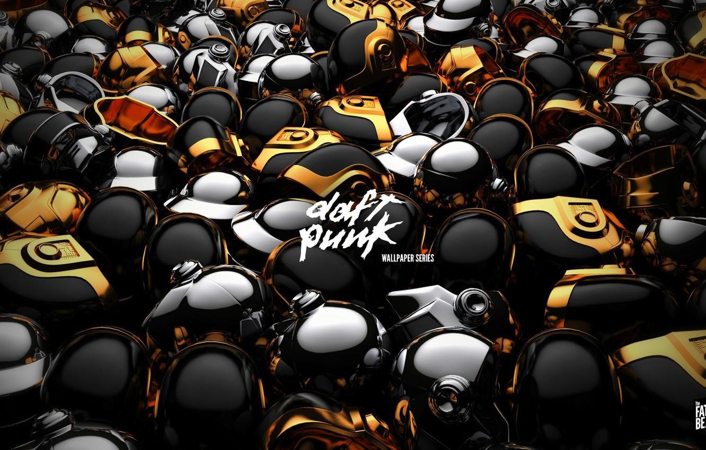 Photo wallpaper Music, Music, Daft Punk, Hats