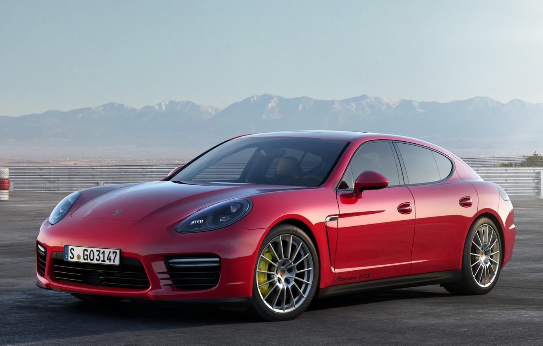 Photo wallpaper red, Porsche, Panamera, sports car, Porsche, GTS