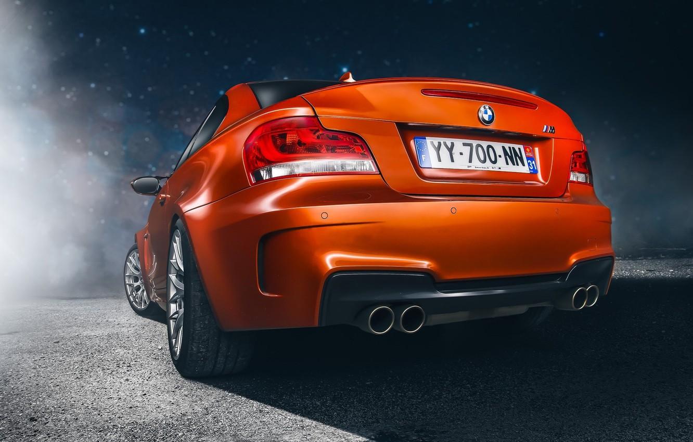 Photo wallpaper Auto, BMW, Wheel, Ass, BMW, Orange, Lights, Car, Car, Sport, Rear, Sports