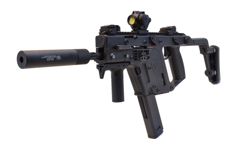 Photo wallpaper muffler, the gun, collimator, 45 ACP, SMG, VECTOR, KRISS, KRISS SUPER V