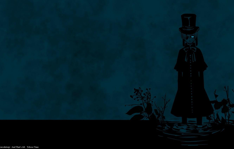 Photo wallpaper void, loneliness, the darkness, swamp, despair, eye patch, Kuroshitsuji, Ciel Phantomhive, the devil's Butler, by …
