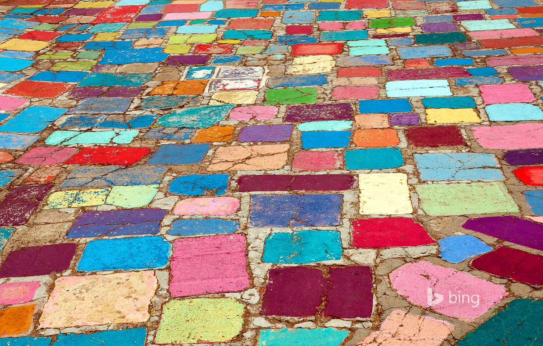 Wallpaper road, color, CA, USA, bridge, San Diego, stones