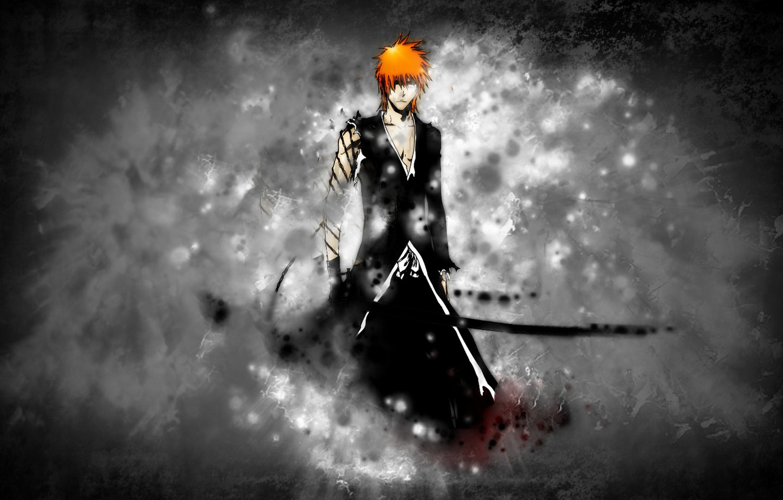 Photo wallpaper sword, bleach, ichigo, Ichigo, bankai