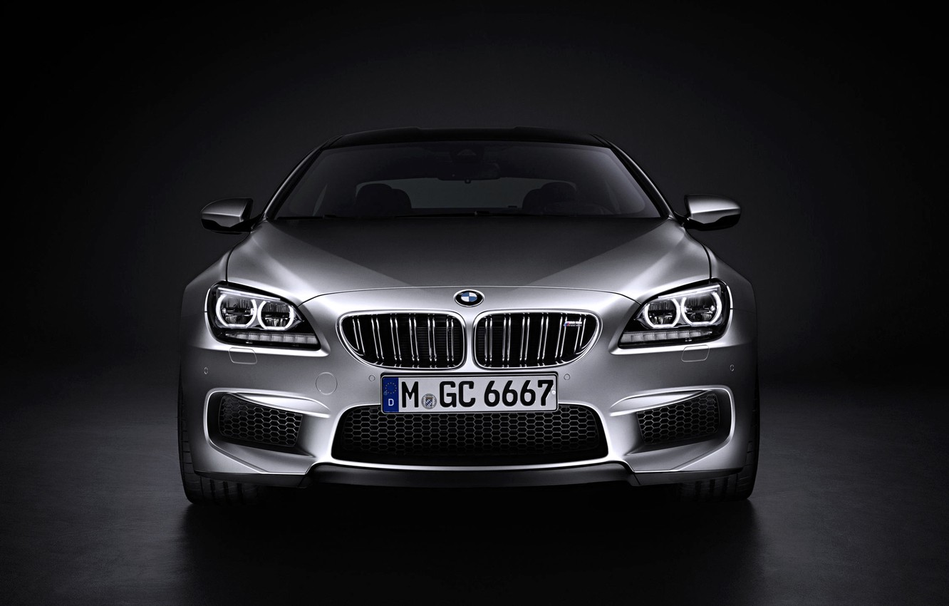 Photo wallpaper Auto, BMW, Machine, Logo, Grey, BMW, Silver, The hood, Lights, Room, The front