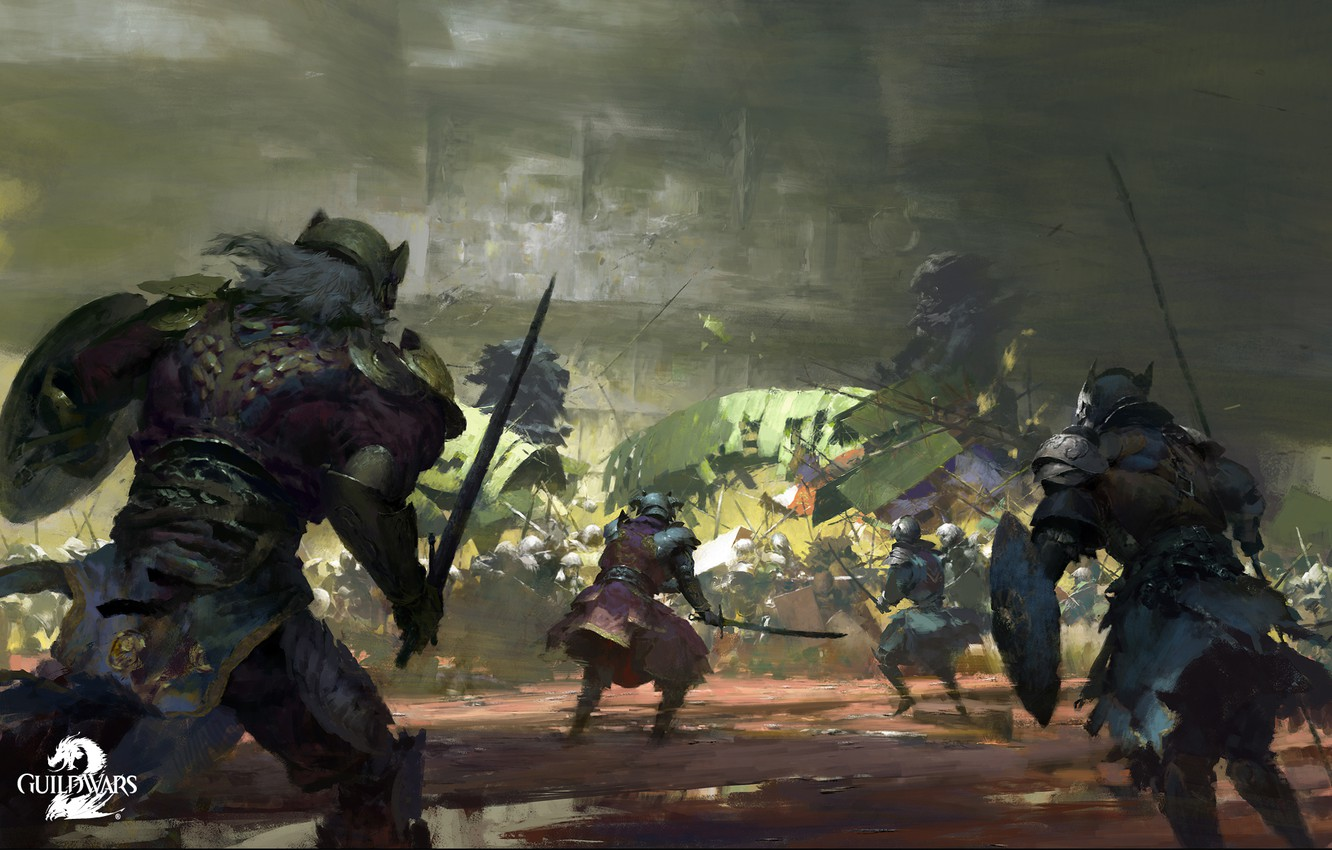 Photo wallpaper Guild Wars 2, Scarlet, Lions Arch Invasion, PC Game