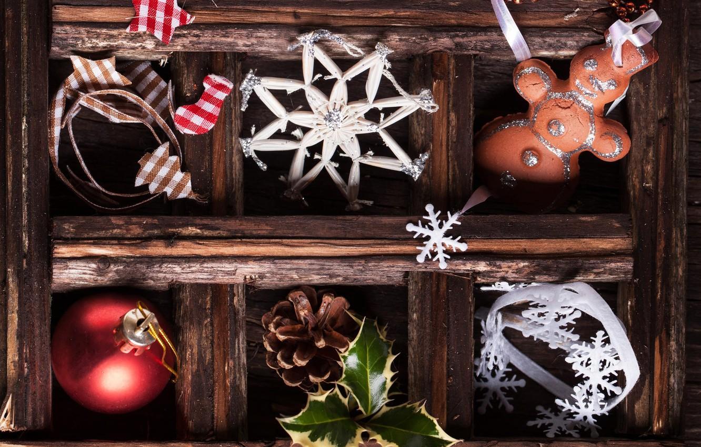 Photo wallpaper ball, New Year, cookies, Christmas, bump, Christmas, snowflake, New Year, Xmas, cookies, Merry, 2016, Natasha …