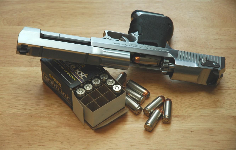 Photo wallpaper gun, cartridges, Desert Eagle, Desert Eagle