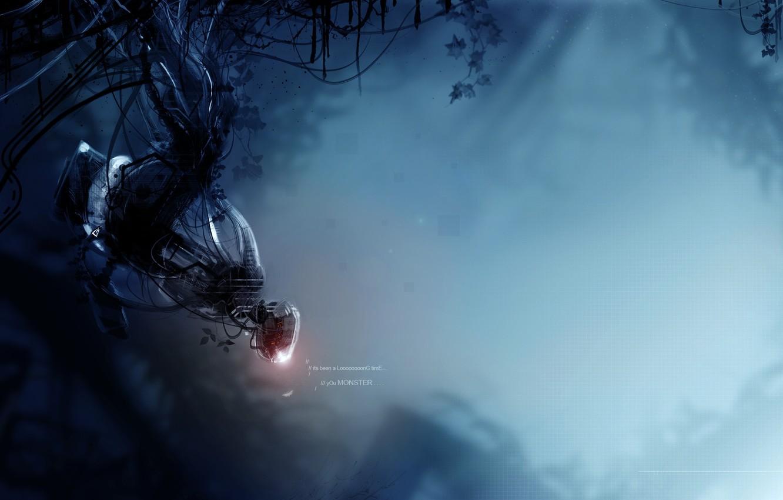 Photo wallpaper monster, Portal 2, Glasha, GLADOS