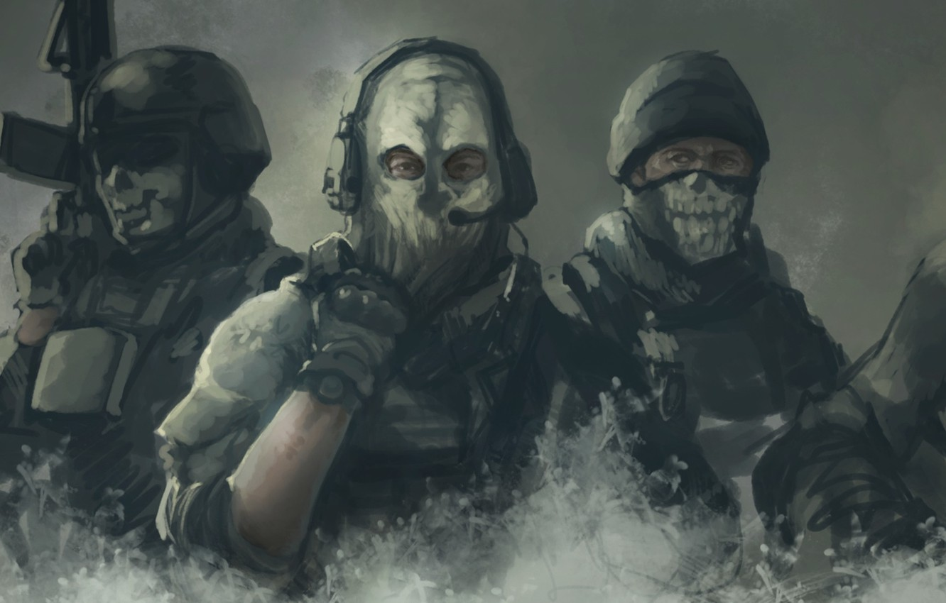 Wallpaper Mask Call Of Duty Art Special Forces Call Of Duty