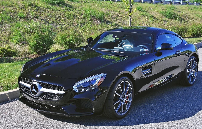 Photo wallpaper black, Mercedes-Benz, sports car, sportcar, Mercedes-AMG GT S