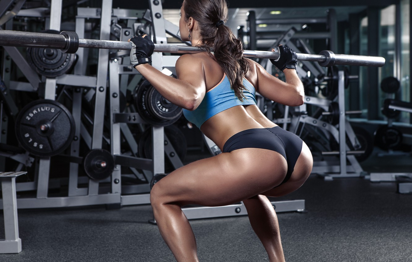 Photo wallpaper legs, workout, fitness, gym