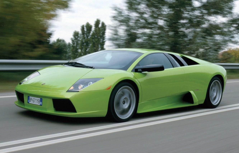 Photo wallpaper road, movement, supercar, Lamborghini, lamborghini murcielago, Murcielago
