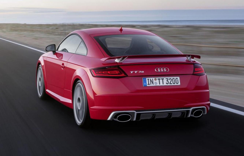 Photo wallpaper Audi, Red, Audi, Back