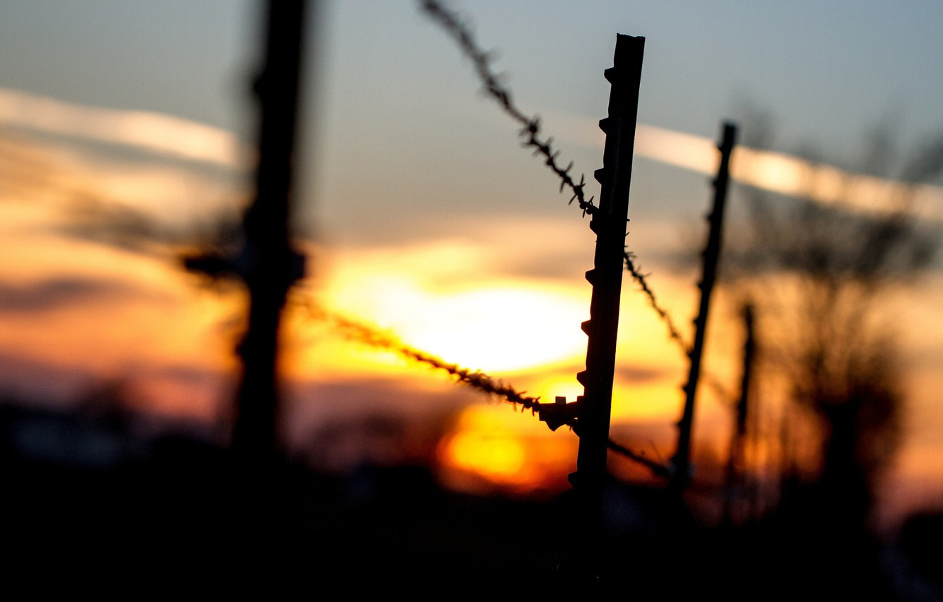 Wallpaper Macro Sunset Background Widescreen Wallpaper Black The Fence Rope Silhouette The Fence Wallpaper Widescreen Background Full Screen Hd Wallpapers Widescreen Images For Desktop Section Makro Download