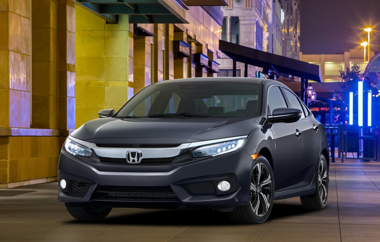 Photo wallpaper Honda, sedan, Honda, Civic, civici, 2015