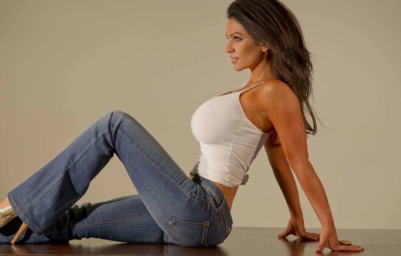 Model jeans image Wallpaper Sexy Brunette Model Jeans Images For Desktop Section Devushki Download
