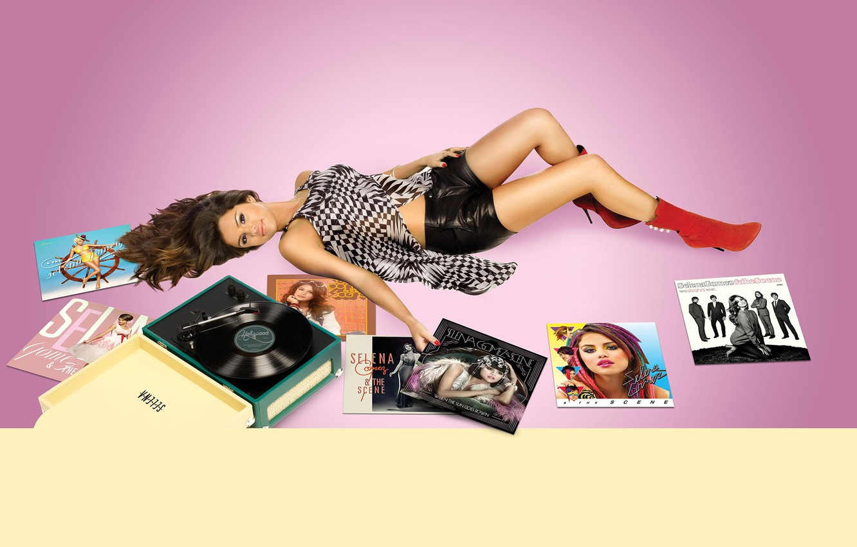 Photo wallpaper look, pose, music, shorts, figure, actress, brunette, photographer, album, lies, player, vinyl, singer, boots, on …