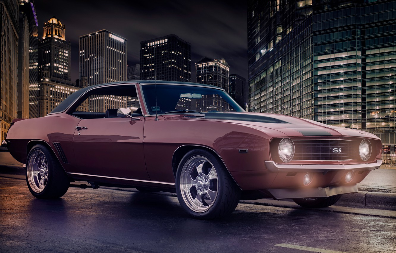 Photo wallpaper red, Chevrolet, Camaro, red, Chevrolet, muscle car, muscle car, Camaro