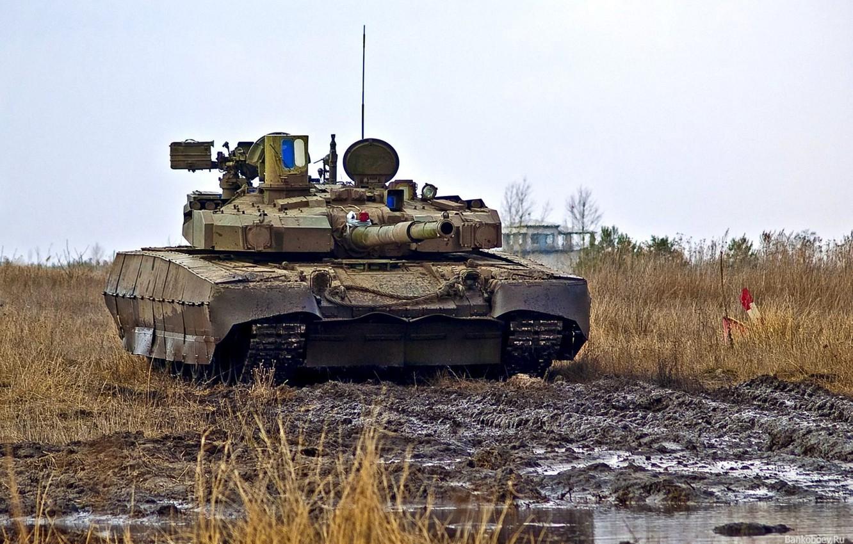 Photo wallpaper field, tank, Ukraine, t-84 Oplot