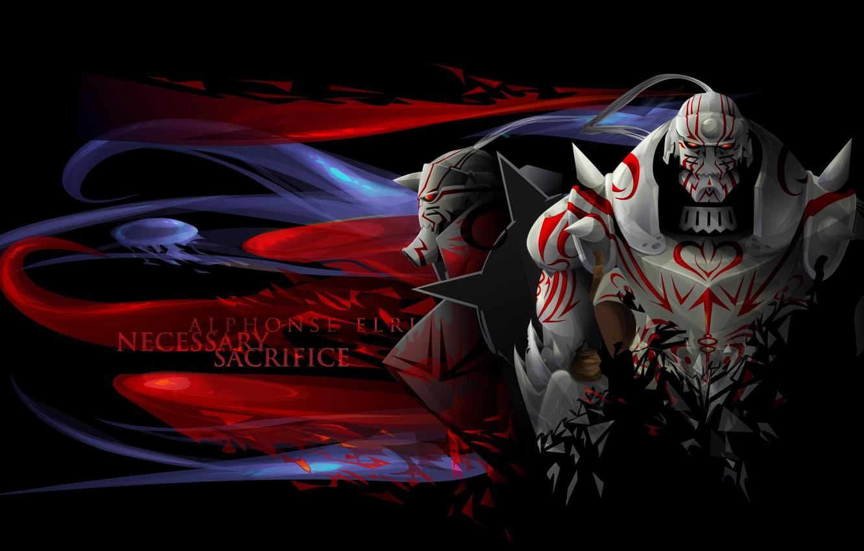 Photo wallpaper anime, fullmetal alchemist, armor, ahimia, Fullmetal alchemist, Elric, Alfonso