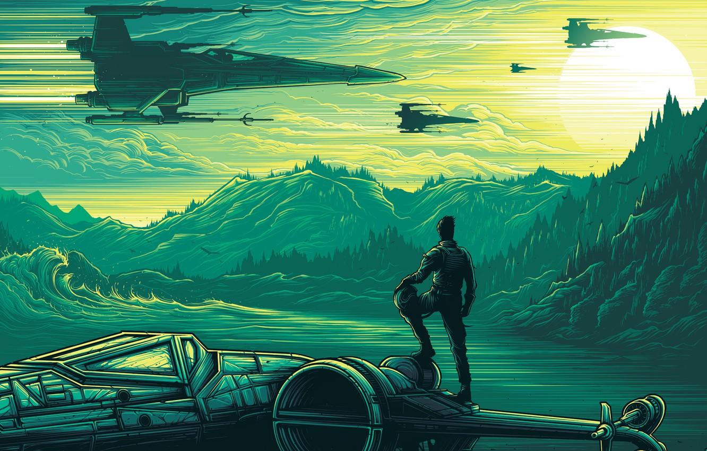 Wallpaper Landscape Fiction Vector Ships Art Costume Helmet Pilot Space Star Wars The Force Awakens Star Wars The Force Awakens Images For Desktop Section Filmy Download