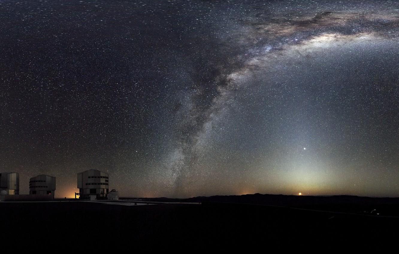 Photo wallpaper Galaxy, Panorama, The Milky Way, Panorama, Milky Way Galaxy