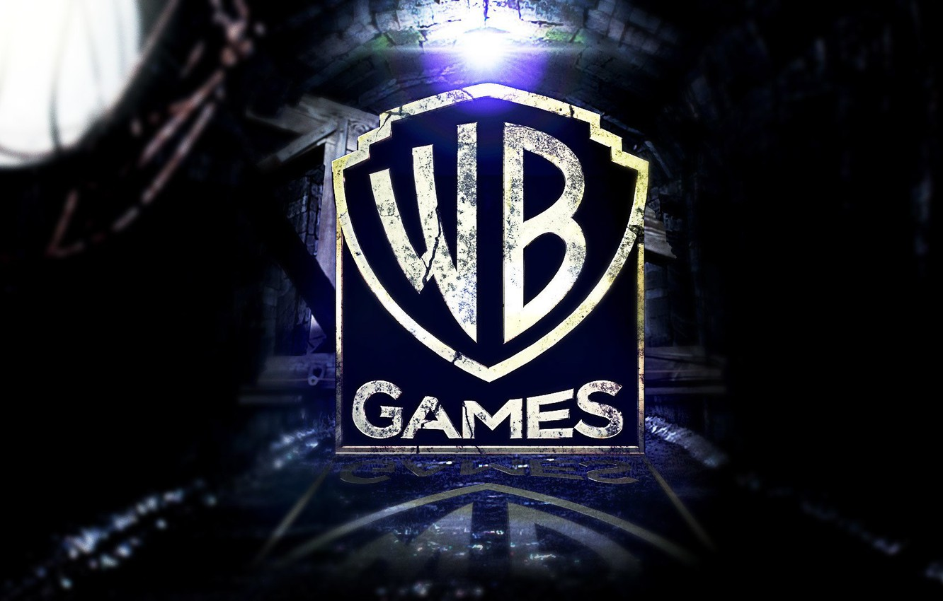 Photo wallpaper Logo, Warner, WB Games