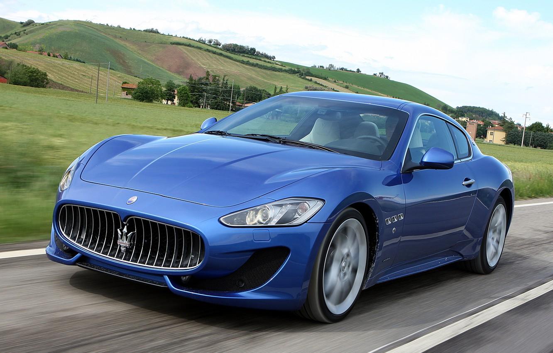 Photo wallpaper road, machine, Maserati, speed, GranTurismo, Sport