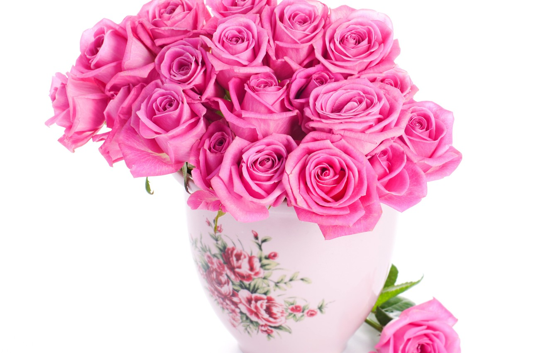 179 & Wallpaper roses pink pink flowers beautiful vase ...