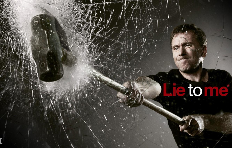 Photo wallpaper glass, hammer, lie to me, lie to me, broken, cal lightman, tim roth