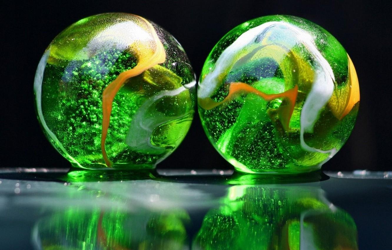 Photo wallpaper glass, balls, colorful