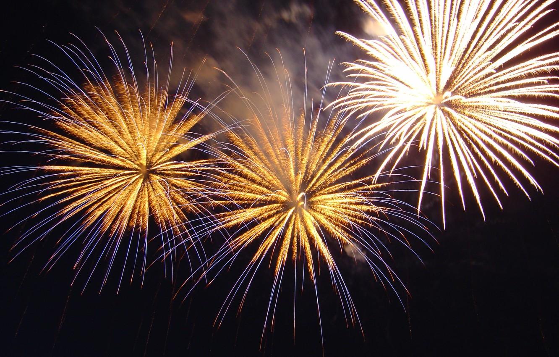 Photo wallpaper night, salute, fireworks