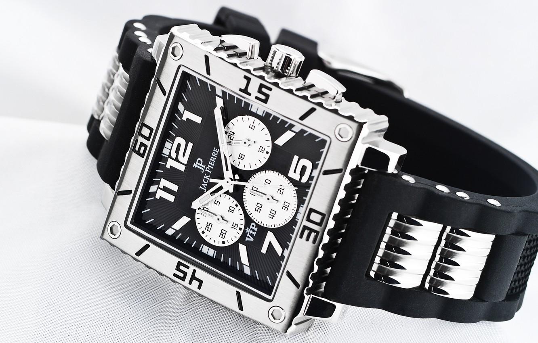 Photo wallpaper metal, white, black, watch, Jack Pierre