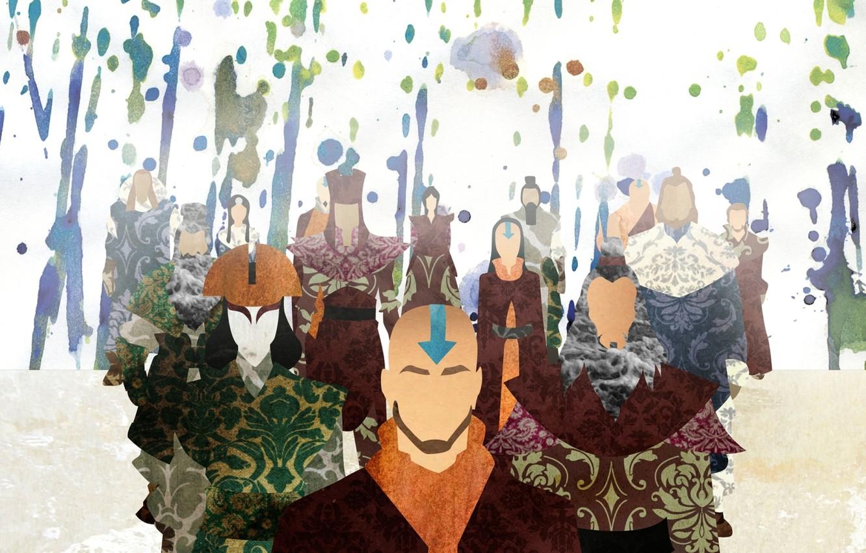 Photo wallpaper color, paint, avatar, avatar, Aang, The Legend of Korra, Avatar: the Legend of Korr., Kyoshi, …