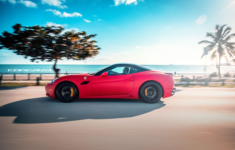 Photo wallpaper machine, auto, Ferrari, auto, California, label, Wheels, Concave, Matte Red